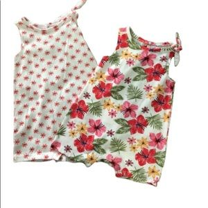 Chick Pea Tropical 2 piece Rompers